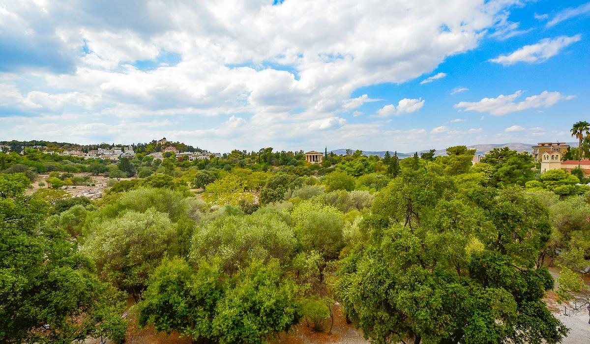 Widok na miasto Ateny