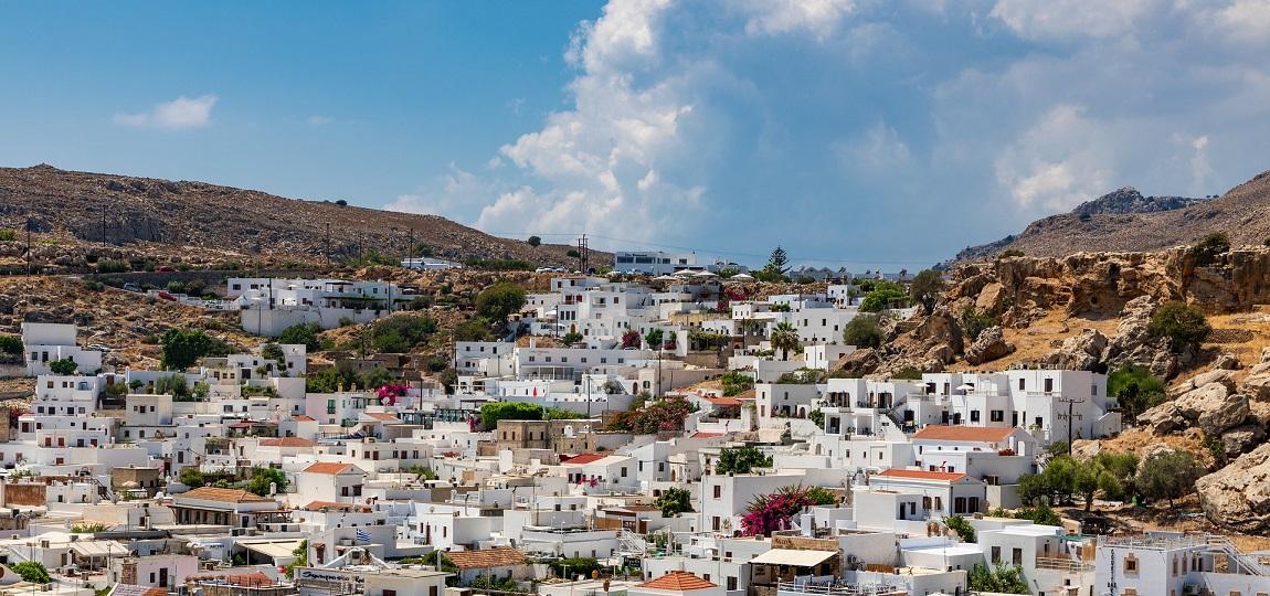 Lindos na wyspie Rodos